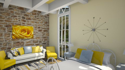 Yellow rooms - Modern - Bedroom  - by Jade w
