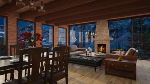 Cozy Night - Vintage - Living room  - by oliinree12