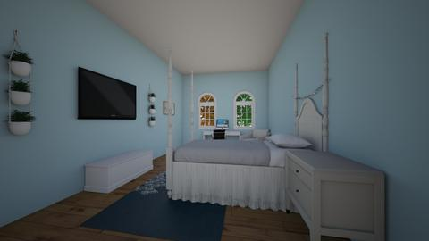 Turqoise Bedroom - Feminine - Bedroom  - by faenzasbuildings