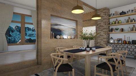 Scandinavian Dining Room - by milica tanurdzic