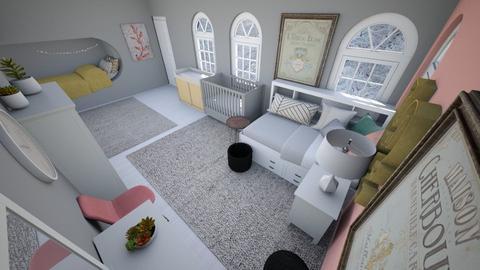 Cute corner bed bedroom - Bedroom  - by Chayjerad