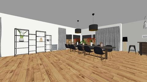 huis met trap in woonkame - Living room - by daphnemickey