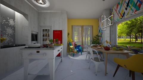 modern playful kitchen - by Themis Aline Calcavecchia