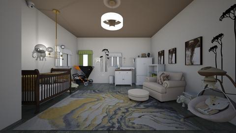 elephant themed nursery - Kids room - by crystalg98