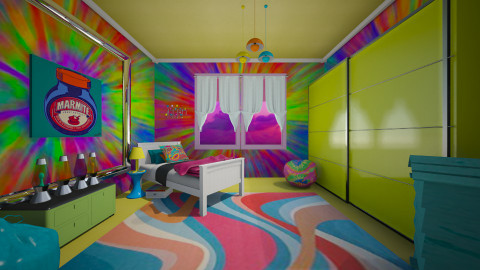 neon4 - Retro - Bedroom  - by donella