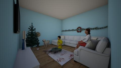 Christmas Holiday - Retro - Living room  - by RStev007