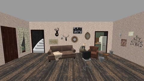 Buried Child Set Design - Living room  - by lilasteele