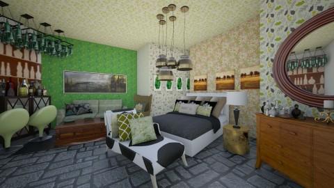LEAF BED ROOM  - Glamour - Bedroom  - by halaejazkhan123