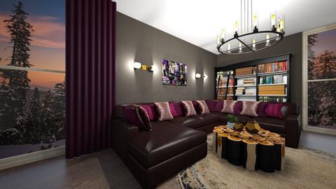 smokey - Living room  - by Zenabodeinteriors