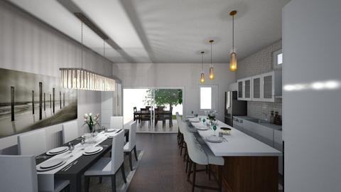 Konyha kerek asztallal  - Kitchen  - by Dette198908