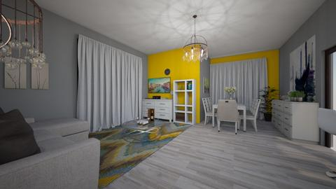 yellow and grey - Living room  - by Ritus13