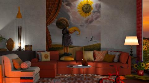 Sunflowers living - Vintage - Living room - by nat mi