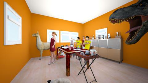 Alberto Thanksgiving - Dining room - by christmas llamaberto kwaii