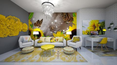 Sunflowers - Living room  - by Feeny