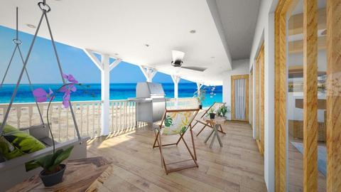 Hawaii Beach House Porch - by SammyJPili