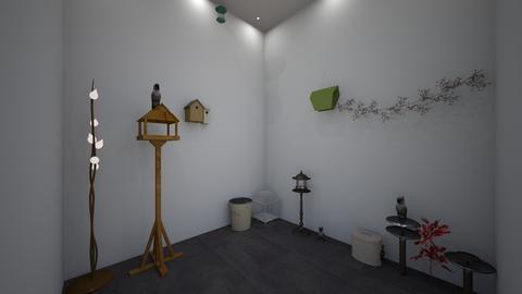 modern indoor bird room  - Modern - Garden  - by jade1111