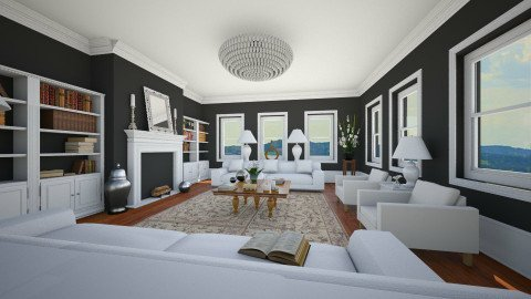 All White - Classic - Living room  - by camilla_saurus