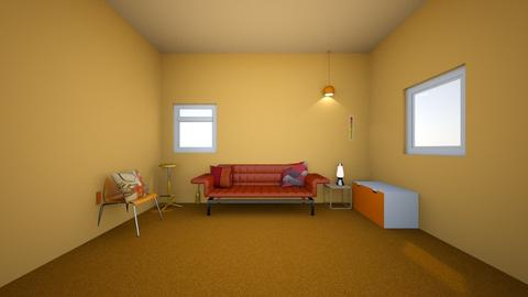 Color Psychology  Orange - Bedroom  - by hannaelizabeth