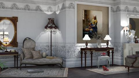 the queen s room - Glamour - Living room  - by nat mi