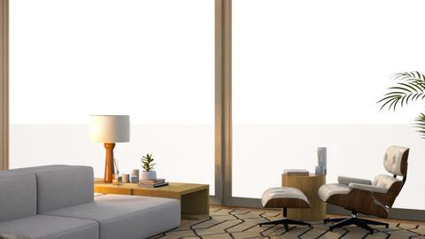 wooden living room - Living room  - by pyntie