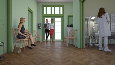 Hospital Corridor - Classic - by HenkRetro1960