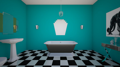 Art deco bathroom - Glamour - Bathroom  - by JazzyAllen
