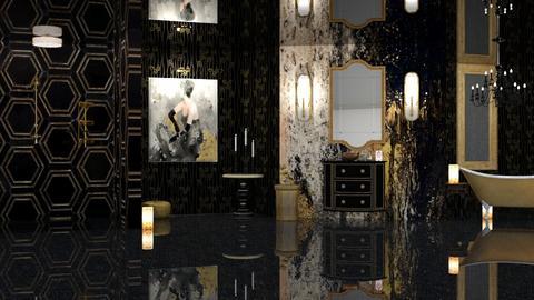 GOLD AND GLITZ BATHROOM - Classic - Bathroom  - by RS Designs