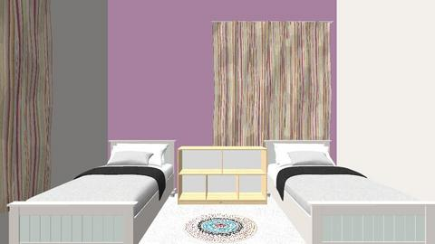 TAMAR AND SHIRA ROOM - Kids room  - by YAELAKERMAM
