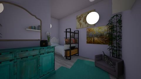 Lavender mountain room - Bedroom  - by ZoeyDunGone