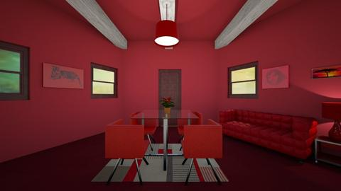 Red Room - Bedroom  - by sisters marin