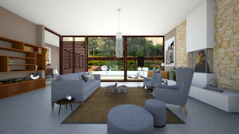 MC Living Room - Retro - Living room  - by mariescorner