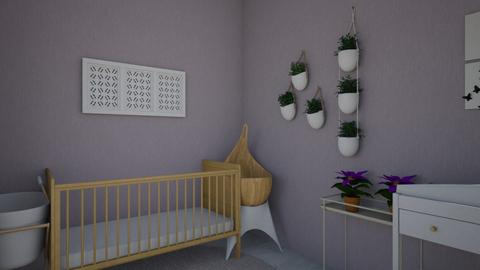 Purple Baby Nursery - Modern - Bedroom  - by abbythebaddie
