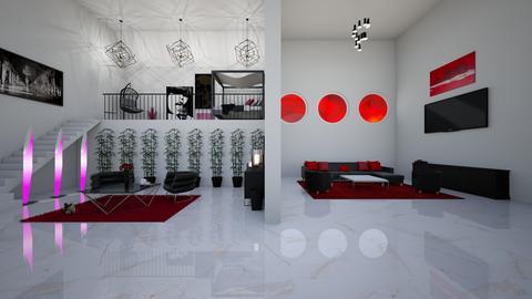 Modern Red - Living room  - by finsfurball