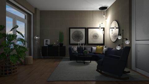 Feeling blue - Living room  - by lpkinteriordesigns