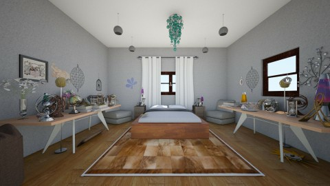 city view house  - Vintage - Bedroom  - by NATALIESAYS