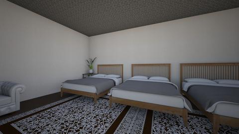 the bed room  - Modern - Bedroom  - by Brookie Cookie87
