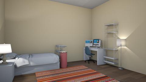 bland room design - Bedroom  - by dontstopmenowww