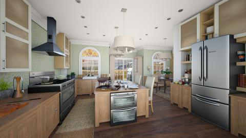 green kitchen  - Kitchen - by aimee_noelle