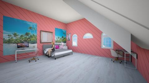 Teen attic bedroom - Modern - Bedroom  - by Hafsabashir
