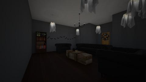 halloween party - Living room  - by rayventhings