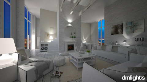 total white - Living room  - by Senia N