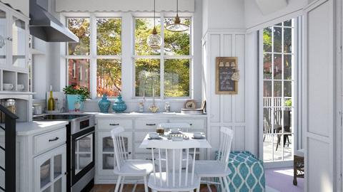 Corner house - Kitchen  - by Leyvna