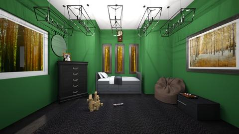 Slytherin Bedroom  - Bedroom  - by cbaker16