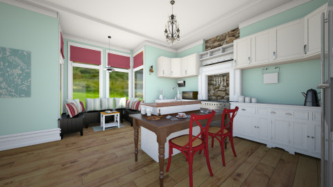 Country Kitchen - Rustic - Kitchen  - by awsomeprincess
