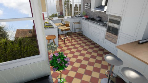 Summer Open Plan6 - Country - Kitchen  - by Suzanne Hoskins