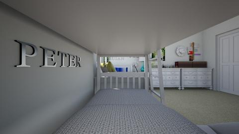 Bedroom For Four Children - Bedroom  - by SammyJPili