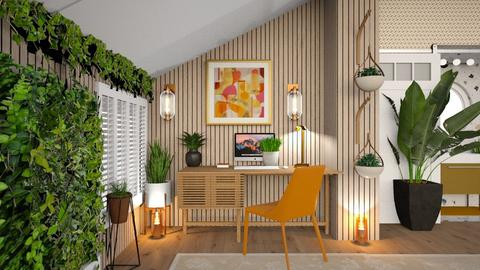 Orange leafy room - by hmm22