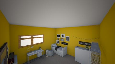 minimalist yellow room  - Minimal - Bedroom  - by vminz