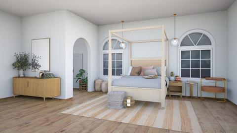 cozy winter bedroom - Bedroom  - by aestheticXdesigns