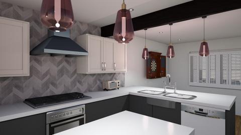 Kitch v6 hood wall - Kitchen  - by kurtwise